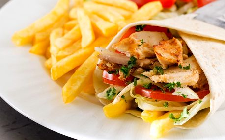 Gyros twister, pita či falafel menu nebo mix grill