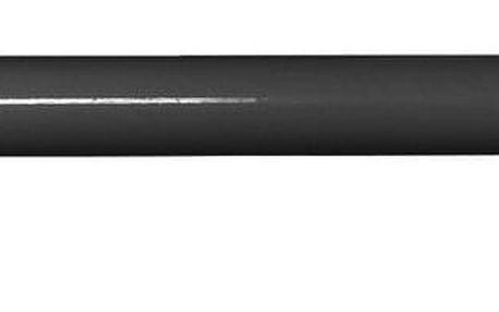 Gardinia Souprava záclonová roztažitelná KOULE 16/19 mm, 120 - 230 cm, černý nikl, bez kroužků, 120 - 230 cm