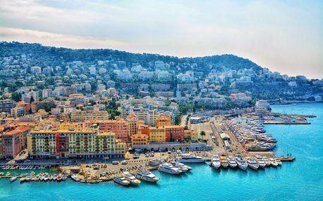 Azurové pobřeží | 5denní zájezd Francie s průvodcem | Nice, Cannes, Monte Carlo | 2× hotel se snídaní v ceně