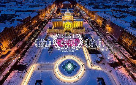 Adventní Záhřeb | 3denní zájezd na oceněné vánoční trhy do Chorvatska