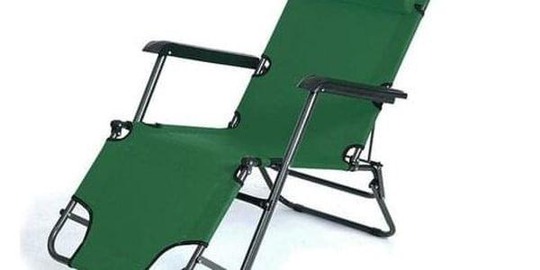 ISwing Polohovací zahradní a plážové lehátko Comfort, zelená, 153 x 60 x 80 cm2