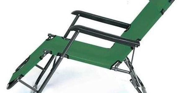 ISwing Polohovací zahradní a plážové lehátko Comfort, zelená, 153 x 60 x 80 cm4