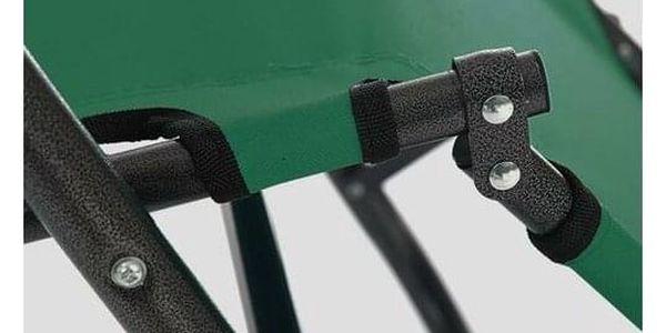 ISwing Polohovací zahradní a plážové lehátko Comfort, zelená, 153 x 60 x 80 cm5