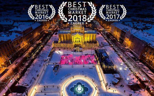 Adventní Záhřeb   3denní zájezd na oceněné vánoční trhy do Chorvatska
