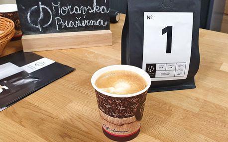 1 nebo 2 kávy z pražírny v centru Olomouci s sebou