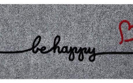 Dveřní Rohožka Be Happy, 60/25 Cm
