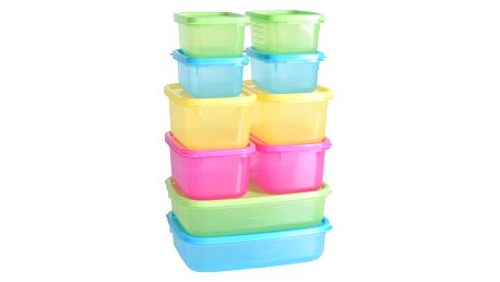 Excellent Houseware Plastové boxy na potraviny, 10 ks