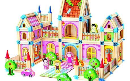 Mertens Dřevěná stavebnice Velký zámek, 268 dílků
