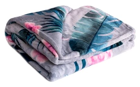 Jahu Deka XXL / Přehoz na postel Plameňák grey, 200 x 220 cm