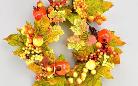 Podzimní věneček Berry, 25 cm