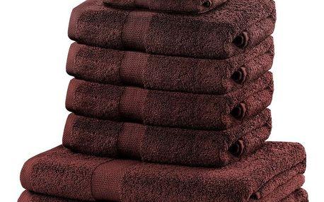 DecoKing Sada ručníků a osušek Marina tmavě hnědá