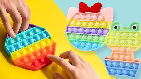 Antistresová senzorická hračka POP IT: 6 tvarů