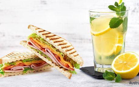 Zapečený toast a domácí limonáda dle výběru