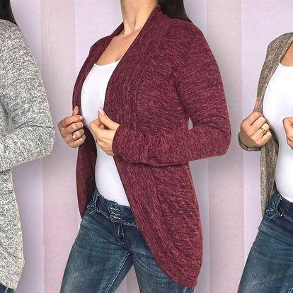 Pohodlné melírované kardigany pro dámy: různé barvy