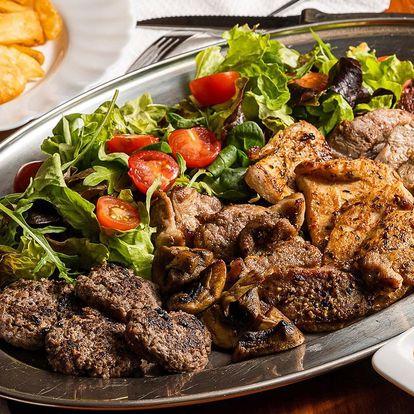 Mísa masa: kuřecí, krkovička i panenka s přílohami