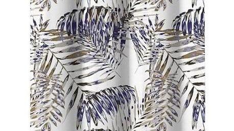 AmeliaHome Závěs Blackout Palm Leaves modrá, 140 x 245 cm
