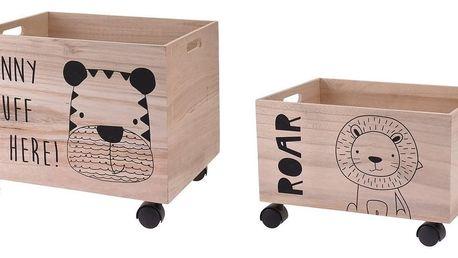 Sada dekoračních úložných boxů Hatu Tygr a zebra, 2 ks
