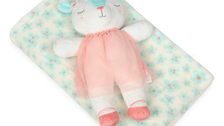Babymatex Dětská deka zelená s plyšákem ovečka, 75 x 100 cm