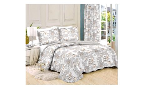 Přehoz na postel Patchwork Ina, 140 x 200 cm, 1ks 50 x 70 cm, 140 x 200 cm