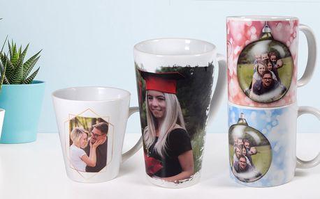 Hrnek na latte nebo na čaj s vlastní fotografií