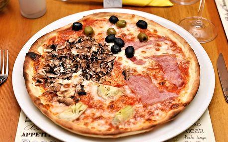 1 či 2 pizzy na Staroměstském nám., výběr z 14 druhů