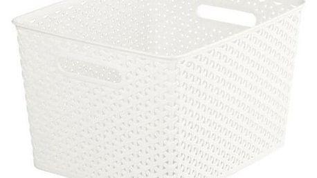 Úložný box RATTAN 'Y' STYLE - L krémový, Curver