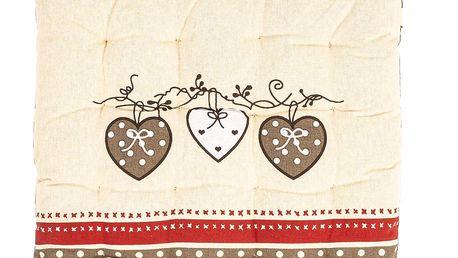 Trade Concept Sedák Srdce prošívaný, 40 x 40 cm