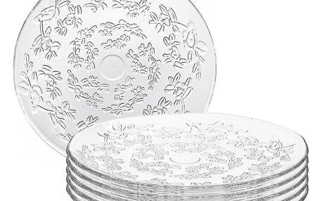 Altom Sada skleněných talířů Flora 24,5 cm, 6 ks