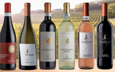 Italská suchá vína: Bílá, růžová i červená