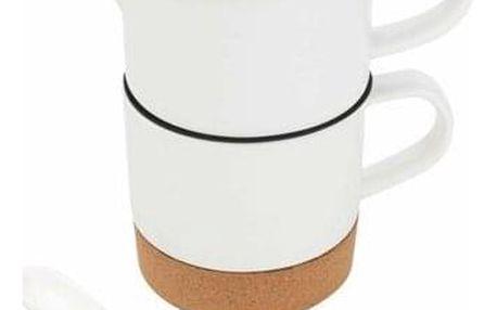 Florina Porcelánová konvička se šálkem TEA FOR ONE
