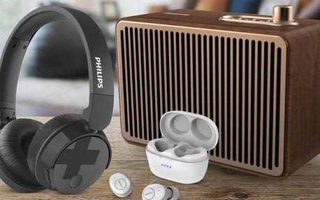 Sluchátka i přenosné reprodukory od Philipsu