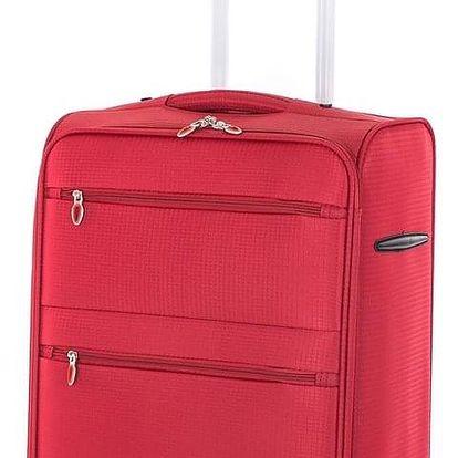Pretty UP Cestovní textilní kufr TEX15 M, červená