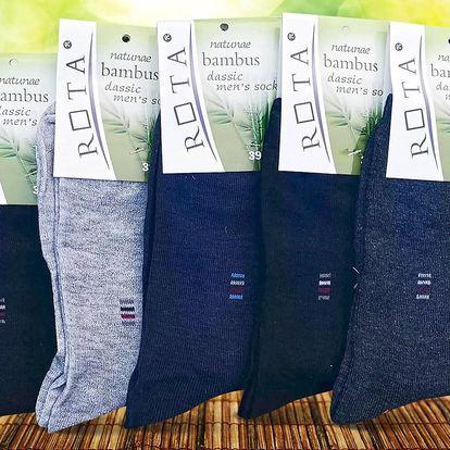 10 párů vysokých bambusových ponožek, unisex