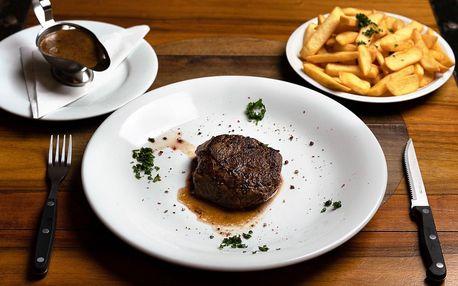 Steak v mučírně: pravá hovězí svíčková pro 1 i 2 os.