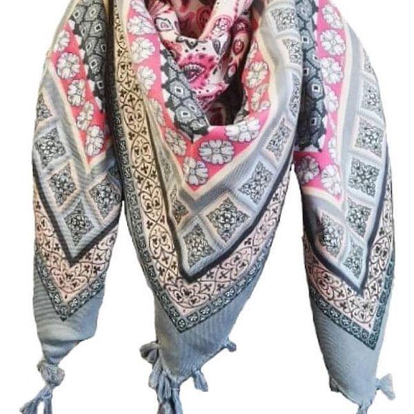 Lehký šátek   Růžová2