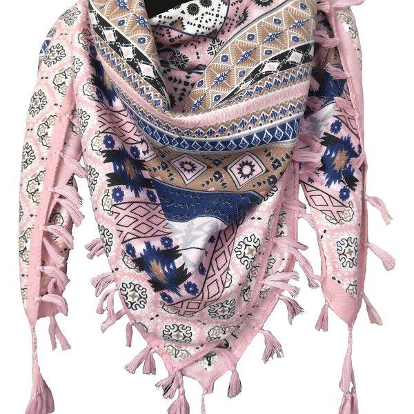 Lehký šátek   Růžová3