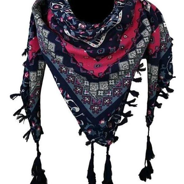 Lehký šátek   Růžová4