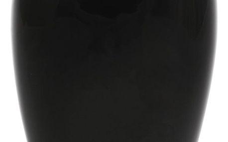 Keramická váza Jar1, 14 x 24 x 10 cm, černá