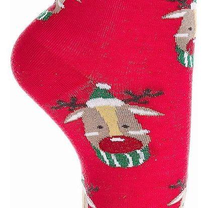 Aura.Via Třpytivé vánoční ponožky SN6666.5 Velikost: 35 - 38