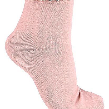 FASHION WOMEN Ponožky s perličkami EW-202D.P Velikost: 36-41