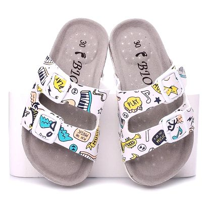 Timelook fashion Dětské pantofle C2240WH Velikost: 31 (18,5 cm)