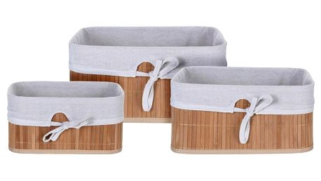 Sada bambusových košíků Tavira, 3 ks