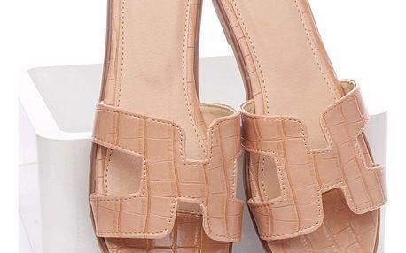 Timelook fashion Letní pantofle WHJ-6PI Velikost: 38 (24,5 cm)