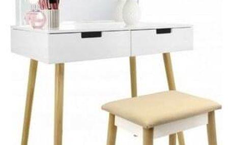 Kosmetický stolek s osvětlením Retro, 80 x 135 x 50 cm