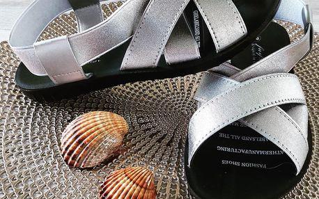 Farfalla Stříbrné dámské sandály 2025SI Velikost: 37 (23,5 cm)