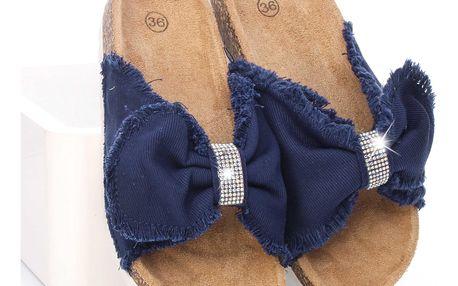 Letní pantofle dámské WSA-77D.BL Velikost: 38 (24 cm)