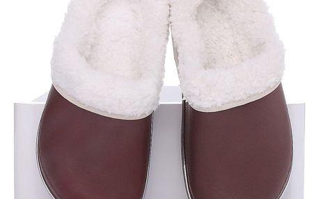 Timelook fashion Dětské zateplené pantofle OWS946MT.BR Velikost: 33 (20.5 cm)