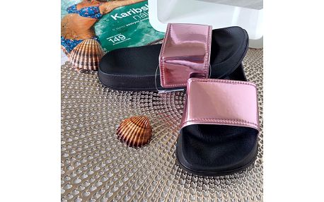 Dívčí pantofle růžové 2048-X.PI Velikost: 28 (18,5 cm)