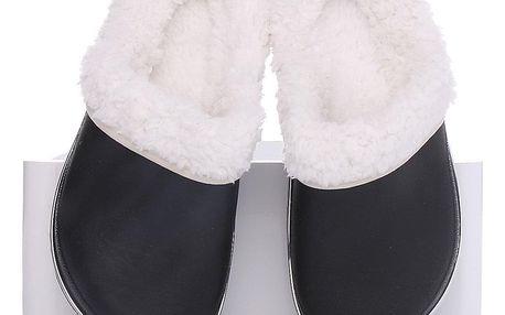 Timelook fashion Dětské zateplené pantofle OWS946MT.B Velikost: 33 (20,5 cm)