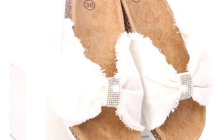 Letní pantofle dámské WSA-77WH Velikost: 36 (23 cm)
